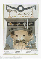 Vintage Image - Waiting For Santa Claus and Rhyme 1907 CHRISTMAS CARD