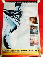 """""""The David Bowie Catalogue"""" Poster Original 1990 - Record Store Promotional"""