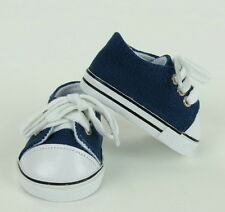 """Lovvbugg Navy Blue Sneakers for 18"""" American Girl or Boy & Baby Doll Shoes"""