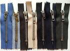 10 Reißverschlüsse Metallschiene Länge/Farbe n. Wahl Reißverschluss Zipper