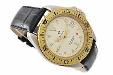 Vintage Zodiac Diver Style Stainless Steel Mens Quartz Watch 1287