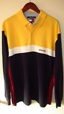 Vintage Tommy Hilfiger Long Sleeve Polo Classic Yellow Blue White Red Men's XL
