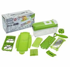 Deluxe Slicer plus Vegetable Salad Fruit Peeler Cutter Chopper Grater Nicer Dice