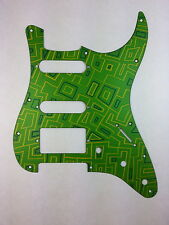 Milled Fender Strat Pickguard - Anodized Finish - Metal Pick Guard - Alien Maize
