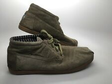 TOMS Olive Green Suede Botas Chukka Casual Tennis Shoes MENS SIZE 12 barely worn