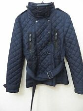 NEW  BURBERRY BRIT Women Military Navy Puffer Coat Size L MSRP $ 795.00