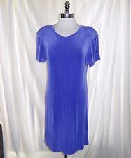 SOFTLY SUITES Size 14 Dress Purple Slinky Stretch Travel Knit