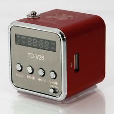 Micro SD TF Mini USB Speaker Music Player Portable FM Radio Stereo PC Mp3 Red
