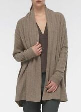 NWT $395 Vince Taupe Scarf Neck Cable Knit Wool Cardigan Sweater Coat Sz MED