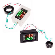 Dual Display LCD Panel Ampere Voltage Volt Amp Meter Ammeter AC 100-300V/200A