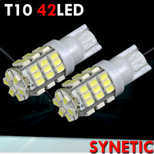 2X White/Light Blue T10/194/921 SMD 42-LED License Plate Light Bulbs