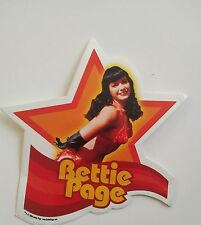 BETTIE PAGE DIE-CUT STAR-SHAPED STICKER  Bunny Yeager