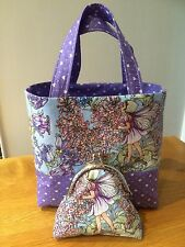 Periwinkle Flower Fairy Tote Bag And Purse Set