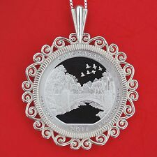 2011 Oklahoma Chickasaw National Recreation Area Silver Proof Coin Necklace