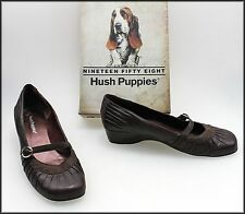 HUSH PUPPIES WOMEN'S LOW WEDGED HEELS COMFORT FASHION SHOES SIZE 9.5