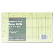 4-RING LEDGER BOOKKEEPING ACCOUNTING DEBIT CREDIT BALANCE 100 SHEETS 8.5 x 5