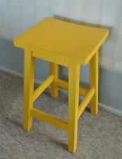 Beautiful Top Quality Yellow Shabby & Chic Timber Kitchen / Bar Stool ~ NEW