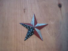"""3.5"""" red, white and blue Barn Star Metal Primitive"""