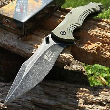 MTECH XTREME BALLISTIC Bowie Spring Assisted Open TACTICAL Pocket Knife MXA840AG