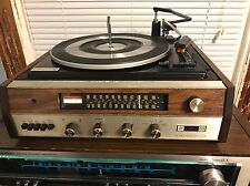 THE FISHER 125 VINTAGE STEREO RECEIVER W/ BSR TURNTABLE, SERVICED AND BEAUTIFUL!
