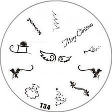 Stampingschablone T34   WEIHNACHTEN, Weihnachtsschablone