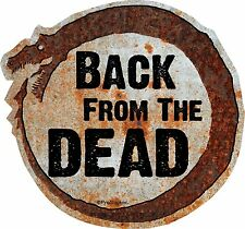 "1 - 4"" Hot Rod Rat Rod Back From The Dead Decal Sticker Parts Rusted Dragon 750"