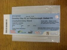 07/04/2012 Ticket: Coventry City v Peterborough United  (Legends Lounge). Unless