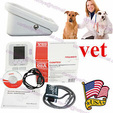 Vet/Veterinary/Animals LCD Blood Pressure monitor Electronic Sphygmomanometer+SW
