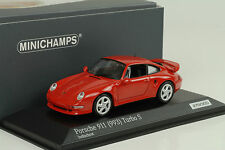 1998 Porsche 911 993 Turbo S 3.6 indischrot red 1:43 Minichamps Diecast 300pcs