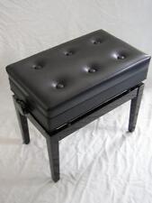 Klavierbank mit Notenfach FEURICH XD-3 Schwarz poliert, Skai