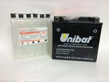 CBTX14-BS BATTERIA MOTO UNIBAT 12 AH 200 A (EN) - COD. YUASA YTX14-BS