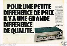 Publicité Advertising 1978 (2 pages) Hi Fi Ampli Technics