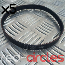 (5x) HTD 405-3M-12 ELECTRIC E-SCOOTER DRIVE BELT 24v / 120w 405x3Mx12 ESCOOTER
