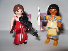 Serie 5 * Girls * 2 x Playmobil 5461* Indianerin + Geigen-Spielerin *Neu