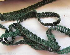 MERCERIE galon gance dentelle vert 1.mx12mm §§ RUBBON lace