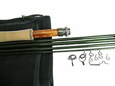 ROD BUILDING KIT WITH A  IM-8 GRAPHITE FLY ROD BLANK 9FT 6WT 4PC GLOSS GREEN