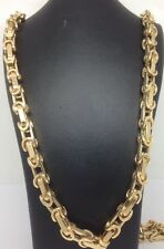 Brand new HEAVY 9ct Gold Fancy Belcher Chain- 30inch 40.6g Uk Hallmark RRP £1895