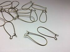 50 Pcs Antique Bronze Hoop Kidney Wire Earring Finding 33mm x 14mm Nickel Free