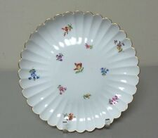 "MEISSEN PORCELAIN ""STREUBLUMEN"" (SCATTERED FLOWERS) CROSSED SWORDS CAKE PLATE"