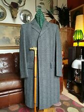 Quality Vintage Virgin Wool Crombie Coat Overcoat.Czechoslavakia.40-42c.Med Mint