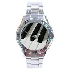 Piano Keys Stainless Steel Analogue Men's Watch