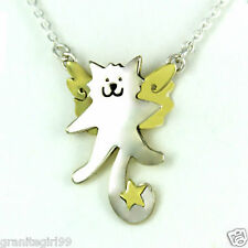 My Heavenly Angel Kitty Cat Pendant on Chain Necklace Far Fetched Mima Oly