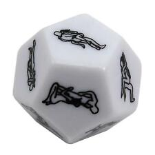 Hot Adult 12Sides Sex Love Way Flirt Erotic Role Play Funny Game Toy Dice Gift