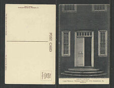 1910s LOGAN MANSION STENTON ENTRANCE BUILT 1727-1734 GERMANTOWN PA POSTCARD
