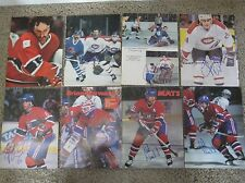 Various Montreal Canadiens 8 x 10 Photo Magazine Page Signed AUTOGRAPH Lot of 17
