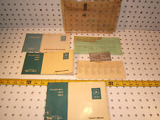 Mercedes W115 240D/ 300D 1976 US Owner's 1 set of 6 Manuals with plastic 1 Pouch