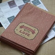 East of India Paper Strung Bags 'Handmade With Love' x 40 Craft Shop Stall