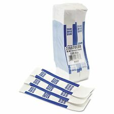 Currency Straps, Money Bands, Blue, $100 in Dollar Bills - 1000 Bands/Box