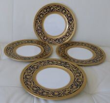 4 Lenox Cobalt & Gold Encrusted Antique Dinner Plates c1906-1930