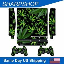 Custom Modded Sticker Skin for Sony PlayStation 3 Slim PS3 Controller Decal Weed